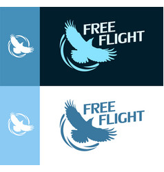Free flight - round logo vector