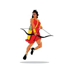 Girl archer cartoon vector