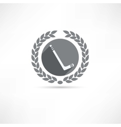 hockey stick icon vector image vector image