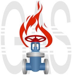 Icon gas industry vector image