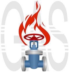 Icon gas industry vector image vector image