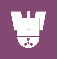 Icon nuclear bomb vector