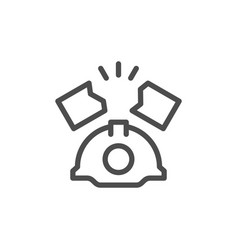 Industrial accident line icon vector