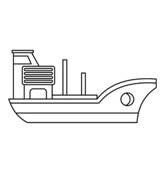 Marine ship icon outline style vector image vector image