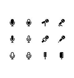 Microphone icons on white background vector image vector image