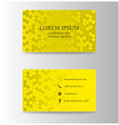 modern creative and trending business card design vector image vector image