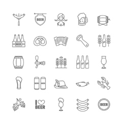 Oktoberfest thin line icons vector
