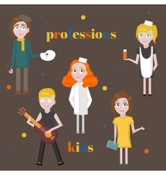 Profession icons set Profession for kids cartoon vector image vector image