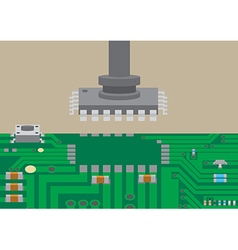 Surface mount technology component placement vector