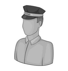 Taxi driver icon gray monochrome style vector