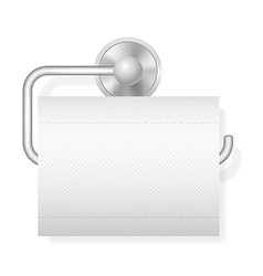 toilet paper on holder 01 vector image vector image