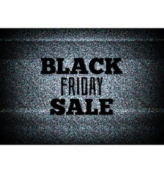 TV commercial black friday sale vector image