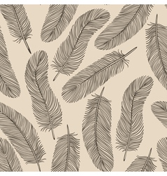 Vintage Feather seamless background vector image