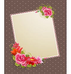vintage greeting card vector image