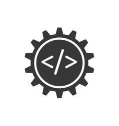 Website gear code technology internet icon vector