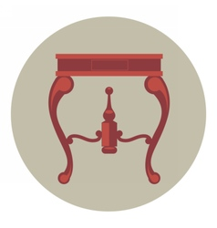 Digital red vintage table isolated vector