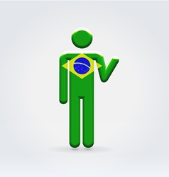 Brasilian symbolic citizen icon vector