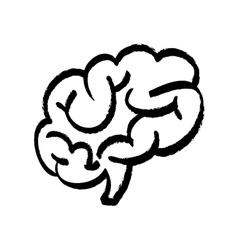 Human brain scribble vector
