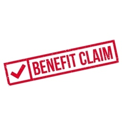 Benefit claim rubber stamp vector