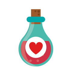 bottle elixir love potion vector image