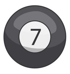 snooker ball icon cartoon style vector image