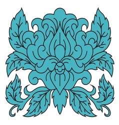 Single floral and foliate arabesque vector