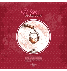 Wine vintage background vector