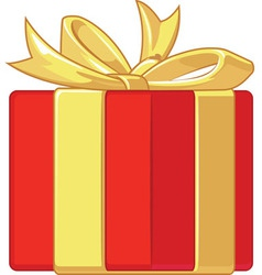 Gift box with ribbon vector