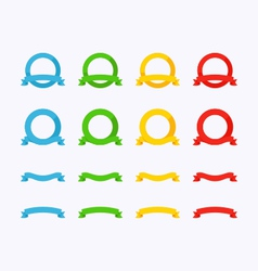 Flat ribbons vector