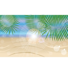 Summer holiday card with beautiful sunny beach vector
