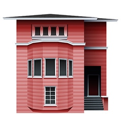 A pink building vector