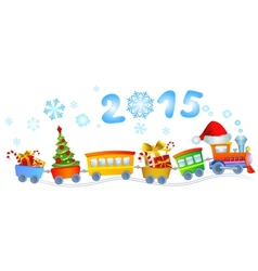 New years train vector