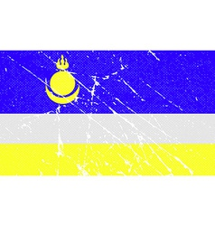 Flag of buryatia with old texture vector