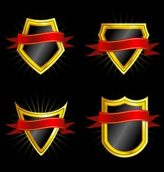 Set of shields vector