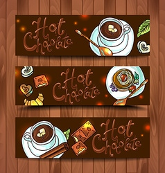 Beautiful banners hot chocolate for your desing vector