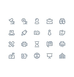 Business and office icons line series vector