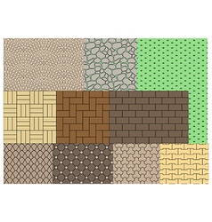 The texture of paving slabs vector