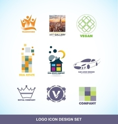 Logo design icon set vector