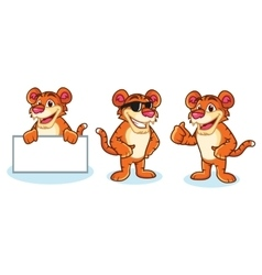 Tiger Mascot happy vector image