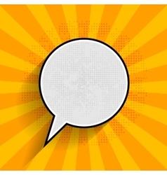 Pop art speech bubble on orange background vector image