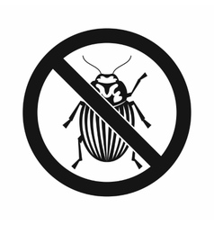 No potato beetle sign icon simple style vector