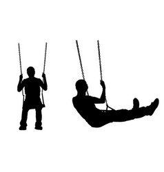 a man on a swing vector image