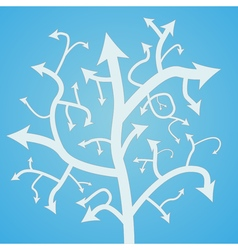 Abstract arrow tree vector image