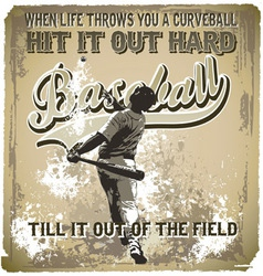 baseball hit it out vector image vector image