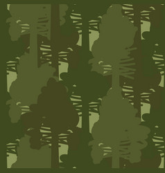 camo forest olive woods seamless pattern vector image vector image