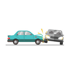 Car accident on a road vector