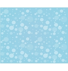 Christmas snowfall on the background of blue sky vector image