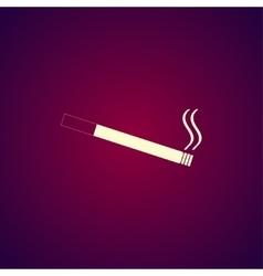 Cigarette icon Flat design style vector image
