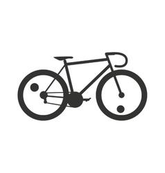 Classic sport bike silhouette pedal race vehicle vector