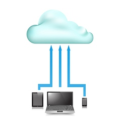 Cloud Store data upload vector image vector image